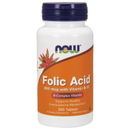 NOW FOLIC ACID KWAS FOLIOWY WITAMINA B9 B12 250tab - now_folic_acid_250.png