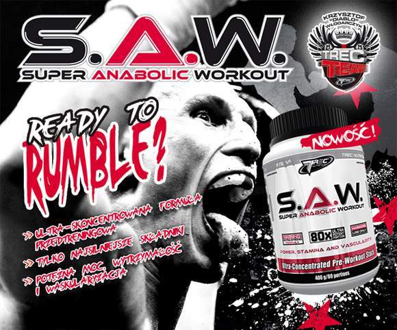 trec saw 400g super anabolic workout